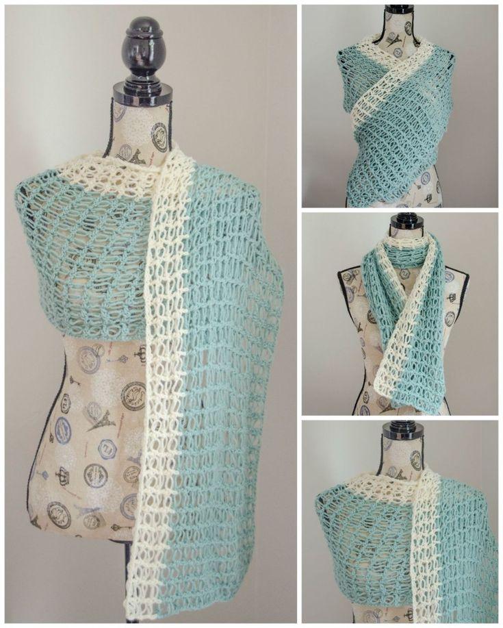 Ocean Breeze Light Summer Wrap Pattern Crochet wrap