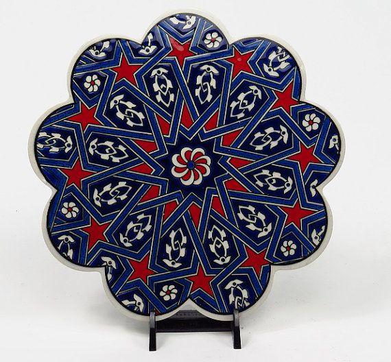 Handmade Ceramic Trivet-Daisy Shaped Ceramic by BeyondTheSeaUS