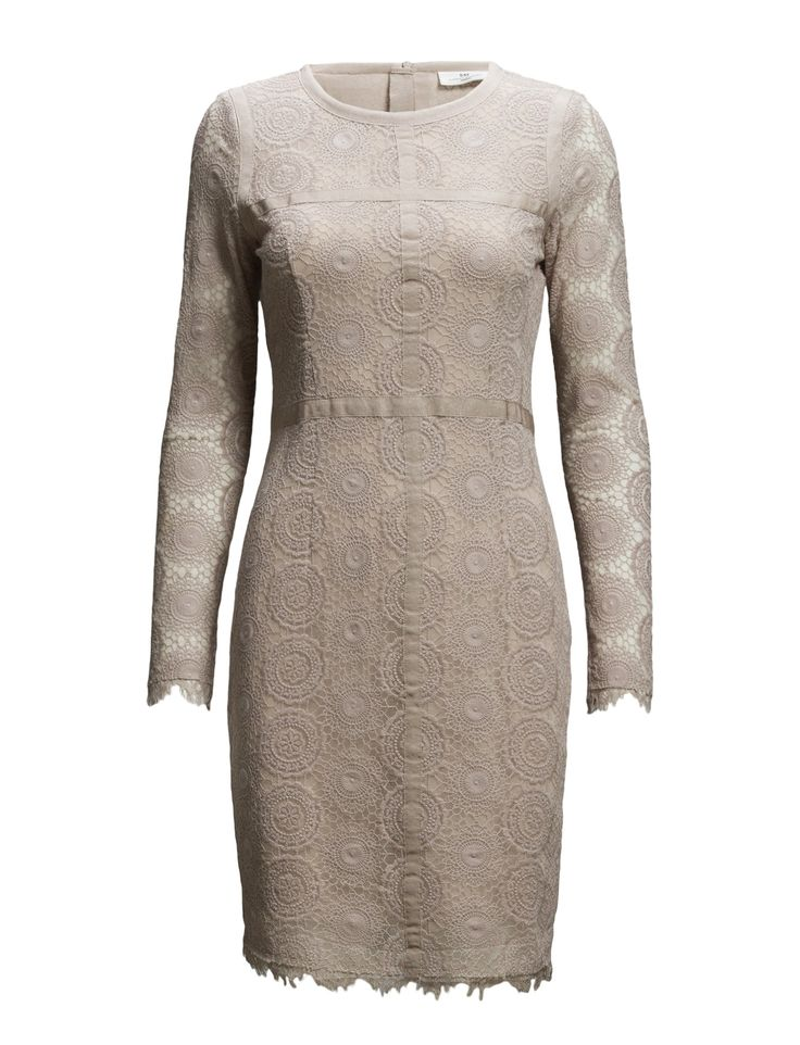 DAY - Day Veneer- Concealed back zip closure Lace overlay Shaping darts Fitted waist Sophisticated