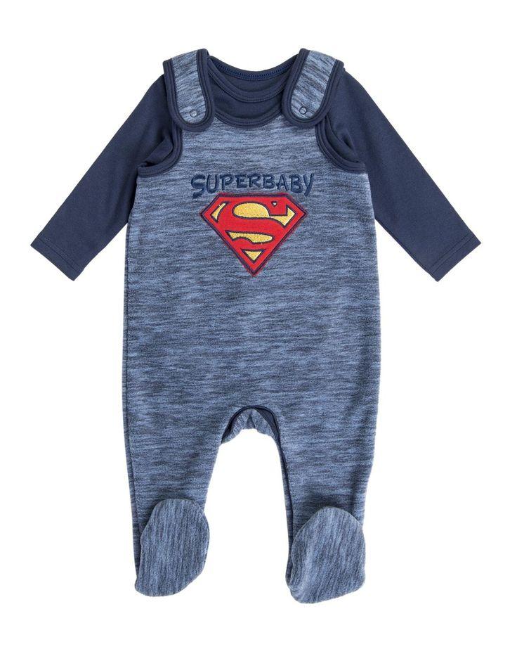 Superbaby Fleece Dungaree Set