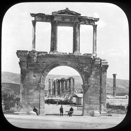 Athens, Hadrian's Arch Magic Lantern Slide