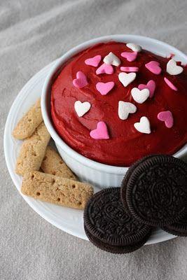 Red velvet cake batter dip. Can you say, yum?!?