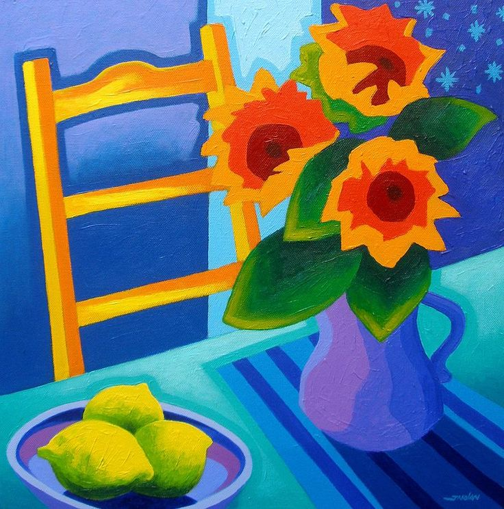 John Nolan-約翰 · 諾蘭-愛爾蘭藝術家, 充滿活力的顏色, 別具風格的畫作(第二輯)。。。 - Milk平平.淡淡.也是真  - ☆☆milk 平平。淡淡。也是真 ☆☆