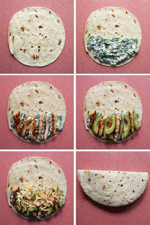 Spinach & Chicken Quesadillas // take a megabite