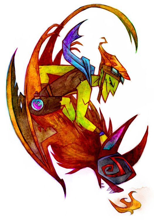 Some of the Dota 2 heroes by artist Botjira