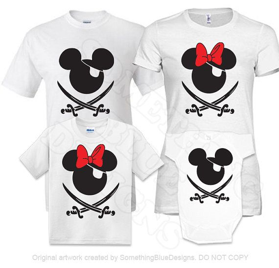 Family Mickey Minnie Vacation Pirate by SomethingBlueDesigns