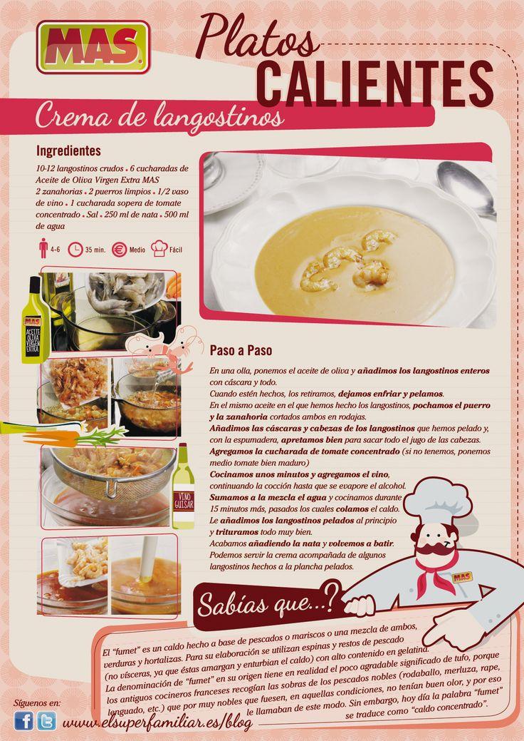 Receta de crema de #langostinos #Recetas #InfoRecetas #Infografias #Marisco #Recipes