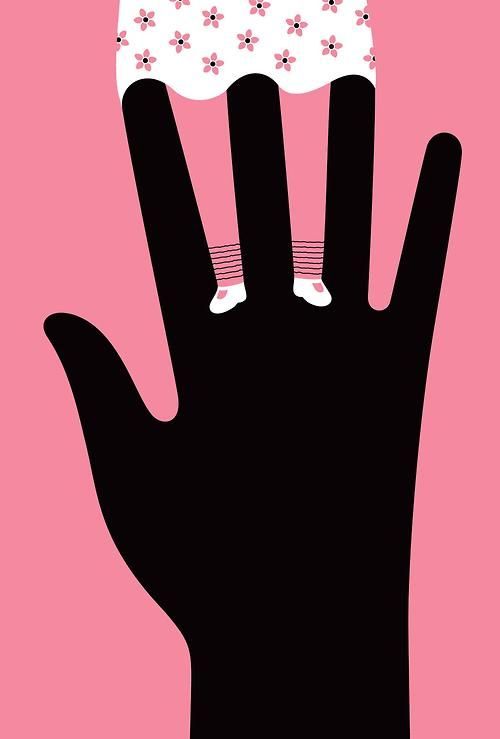 Illustration by Noma Bar for The New Yorker on the science of sex abuse and child abuse  Source: Noma Bar
