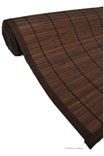 28 X 75 Chocolate Brown Small Slats Bamboo Floor Carpet Area Rug Mat Runner