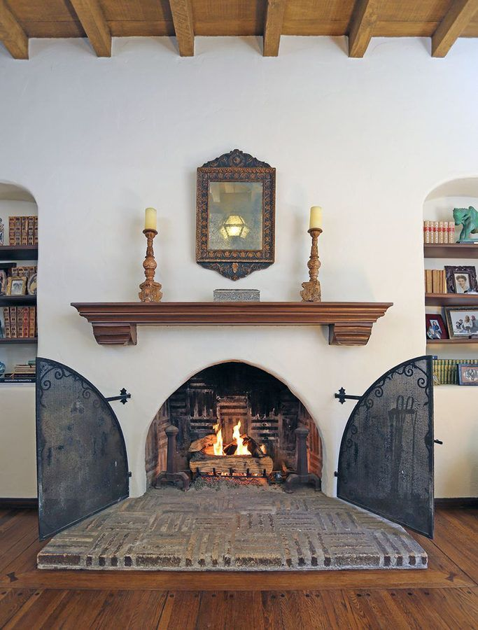 Best 25 colonial revival architecture ideas on pinterest for Spanish style fireplace
