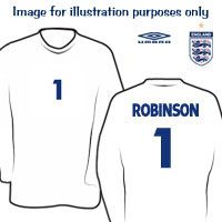 Umbro England Home Goalkeeper Shirt 2007/08 with England Home Goalkeeper Shirt 2007/08 with Robinson 1 printing - Kids. http://www.comparestoreprices.co.uk/sportswear/umbro-england-home-goalkeeper-shirt-2007-08-with.asp