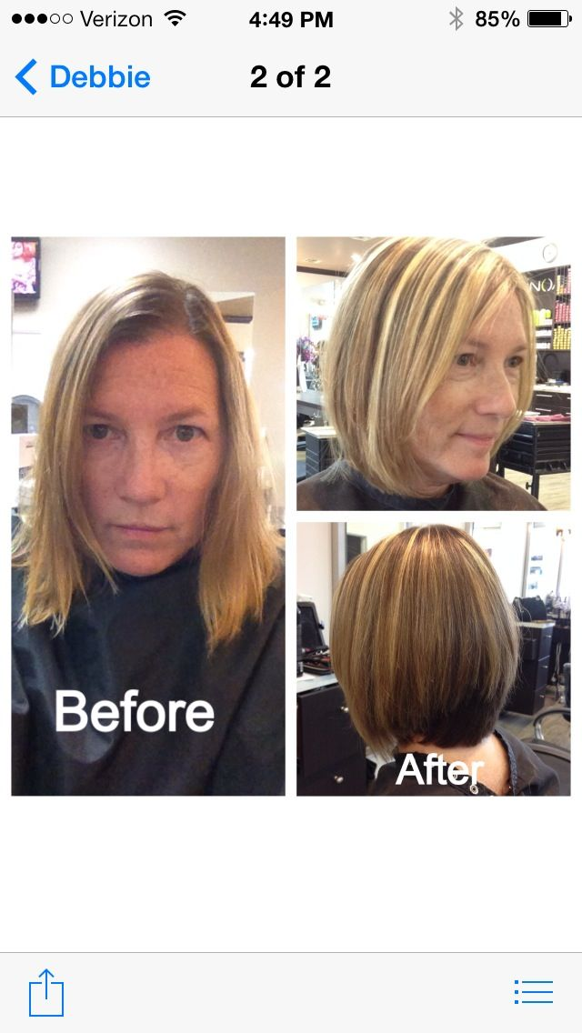 Haircut and color by Debbie