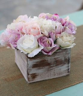 Morgann Hill Designs: Shabby Chic Rustic Flower Bouquet Wedding Centerpiece Arrangement