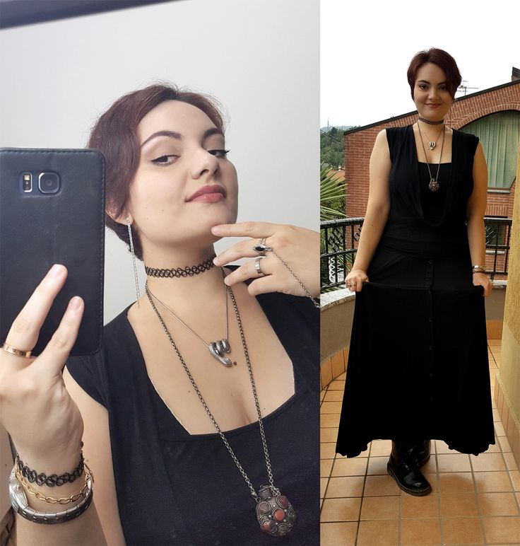 Make-up and outfit for a 90s themed party! ★  #90s #grunge #witchy