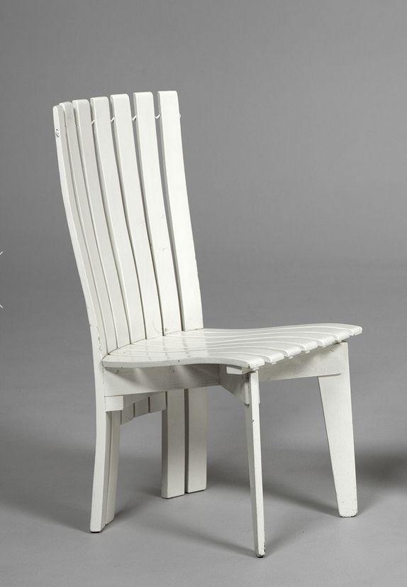 Alvar Aalto; Lacquered Plywood Garden Chair by Artek for Villa Mairea, 1939.