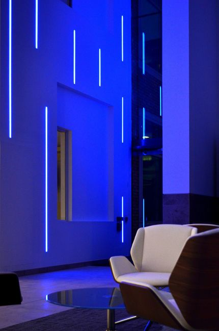 Bespoke lighting manufacture and a specialist lighting installation at lake view manchester using glowline and