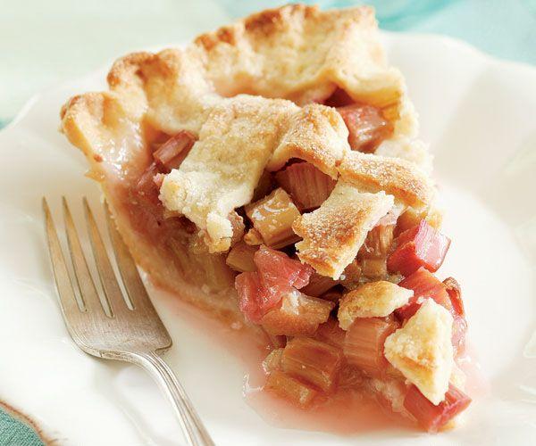 Lattice-Top Rhubarb Pie Recipe - with cream cheese crust