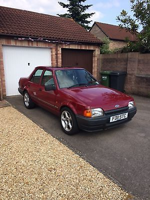 1989 Ford Orion L Red   - http://classiccarsunder1000.com/?p=83799