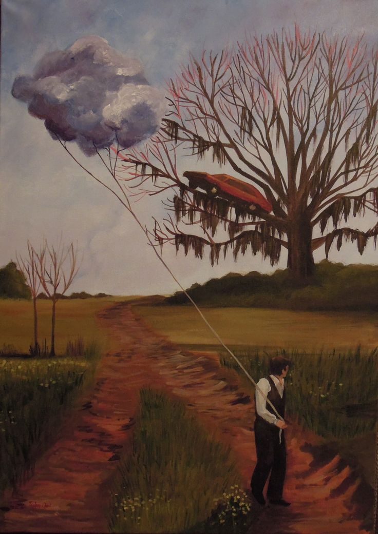 """carrying a cloud in a """"big fish"""" landscape (2014)"""