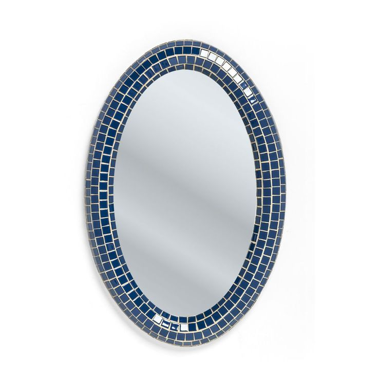 Square Blue Oval
