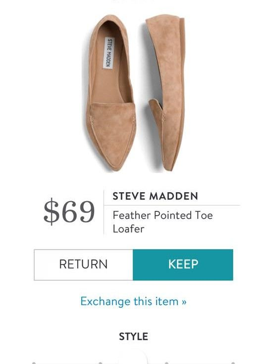 STEVE MADDEN Feather Pointed Toe Loafer from Stitch Fix.  https://www.stitchfix.com/referral/4292370