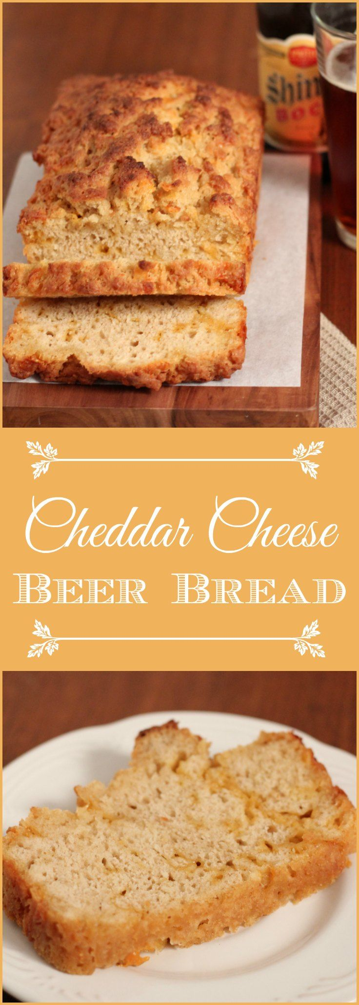 Whole Wheat Cheddar Cheese Beer Bread quick and easy to make, and delicious too! This beer bread can be made with your favorite beer.   It's also great as an appetizer with your favorite dip or cheese.