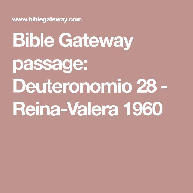 Bible Gateway passage: Deuteronomio 28 - Reina-Valera 1960