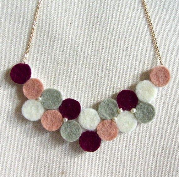 lovely felt necklace