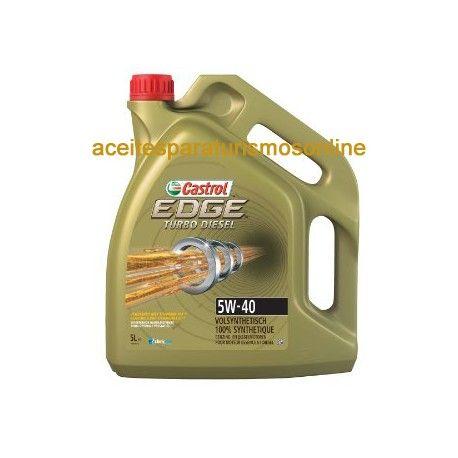 Aceite CASTROL EDGE Titanium FST Turbo Diesel 5W40 5L. El mejor aceite para coches. aceiteparaturismosonline.com tienda de aceites y lubricantes en Madrid. Visitanos