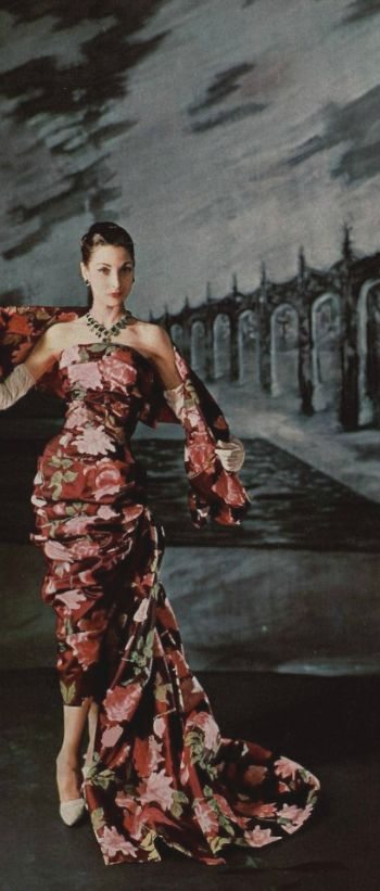 This gown is stunning!  1957-58 - YSL for Christian   Dior Vintage images fashion photography photo