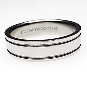Tiffany milgrain wedding band (4mm) ring in platinum