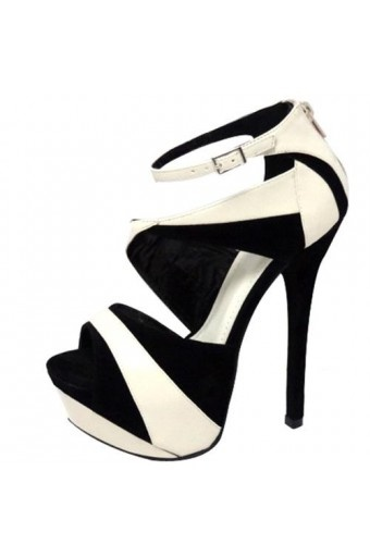 Sexy Black and White Sandals $37.95