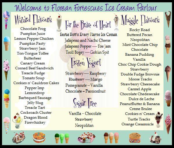 Florean Fortescue S Ice Cream Parlour Ice Cream Harry Potter Food Ice Cream For Breakfast