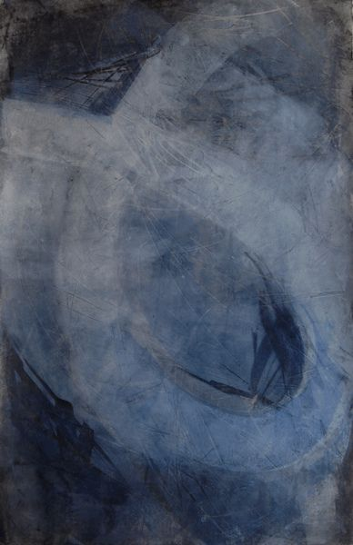 Karen L Darling/ oil cold wax and charcoal