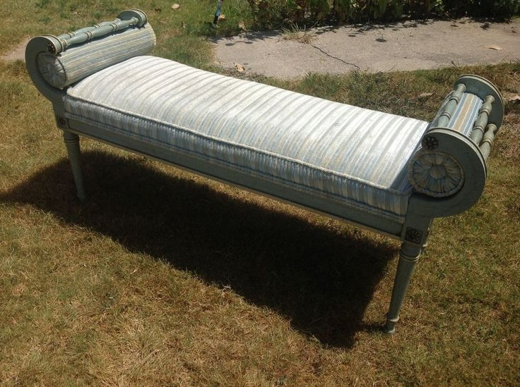 Vintage French Provincial Bed settee Bench Hollywood Regency french provincial #HollywoodRegency