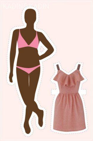14 vücut tipi için 14 elbise modeli 14