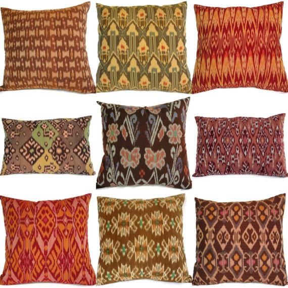 Batik And Ikat From Bali Ikat Pillows Colorful
