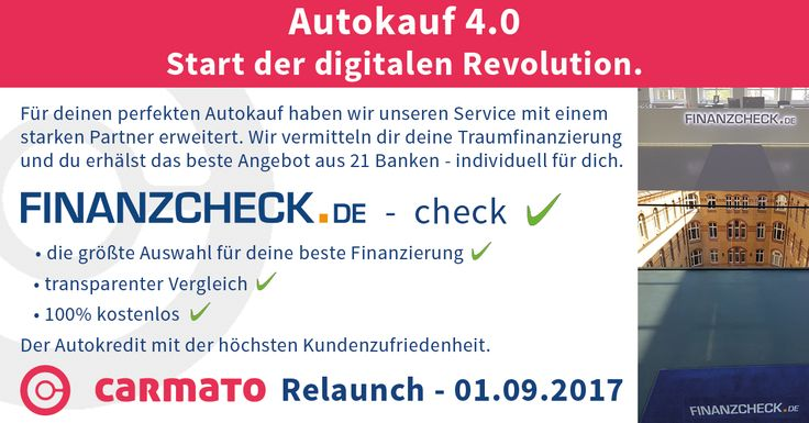 Autokauf 4.0 - Start der digitalen Revolution. #carmato #finanzierung #easy #fintech #einfach #finanzen #kredit #finanzcheck