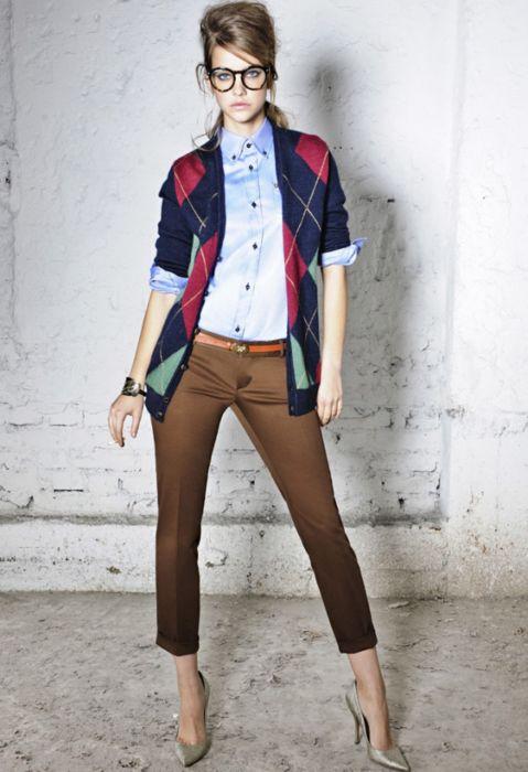 professional geek chic #fashion #office-wear #cardigan
