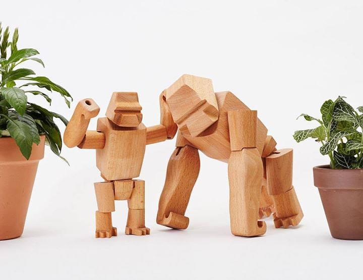 Our Hanno Gorillas have been getting lots of love in our new store... were so glad you like em as much as we do. By David Weeks for Areaware