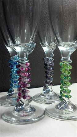 Beaded Wine Glasses