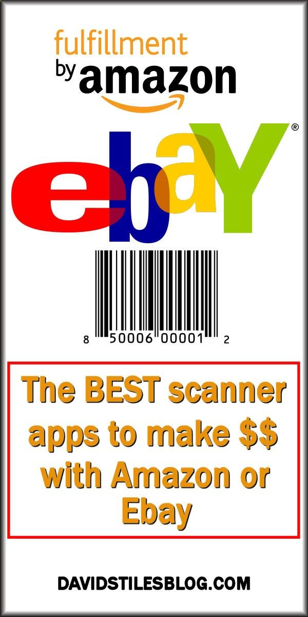 THE BEST SCANNING APPS USED TO SELL ON AMAZON FBA OR EBAY. From: DavidStilesBlog.comhttp://davidstilesblog.com/2015/September2015/THE-BEST-SCANNING-APPS-USED-TO-SELL-ON-AMAZON-FBA-OR-EBAY.htm