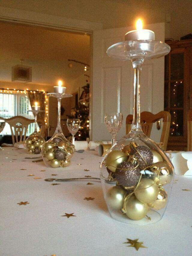 Easy Christmas centerpieces