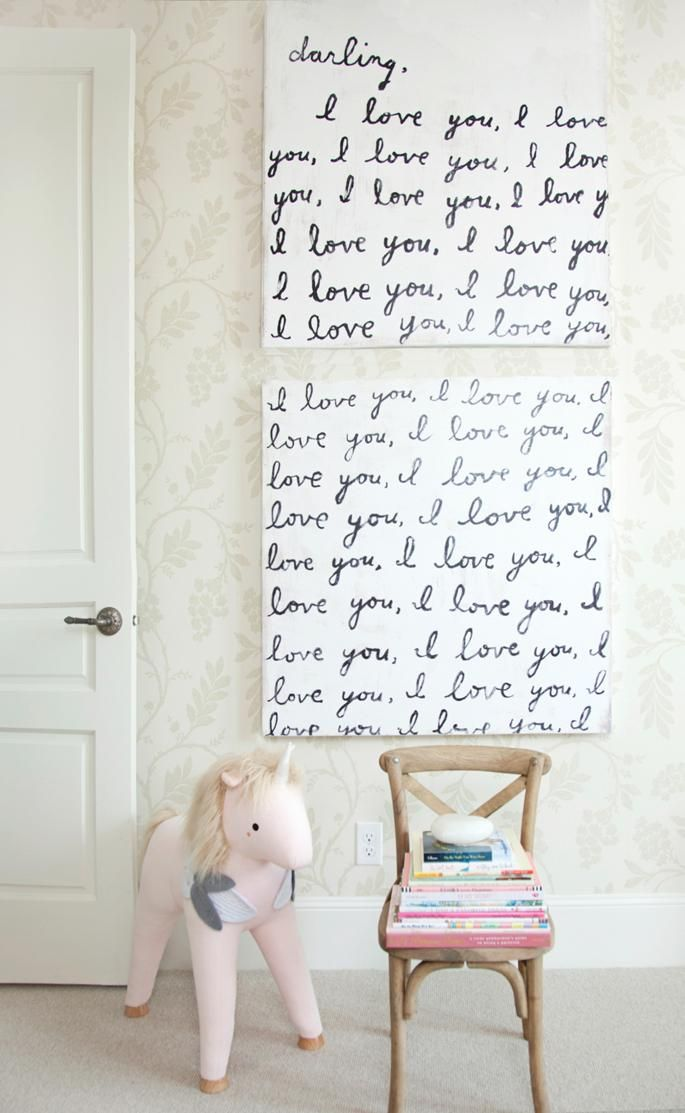 light and bright nursery for rachparcell featuring our sit on unicorn - Baby Wall Designs