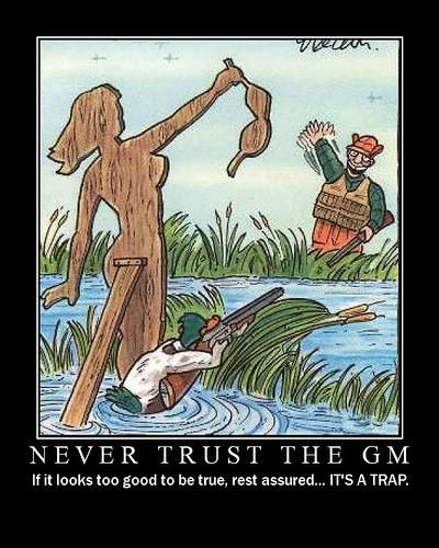 GM Trust - Find more here: https://fyxtrpg.com/rpg-motivational-posters-gallery/