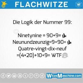 Flachwitze #122  - Wie kompliziert Franzosen 99 zählen
