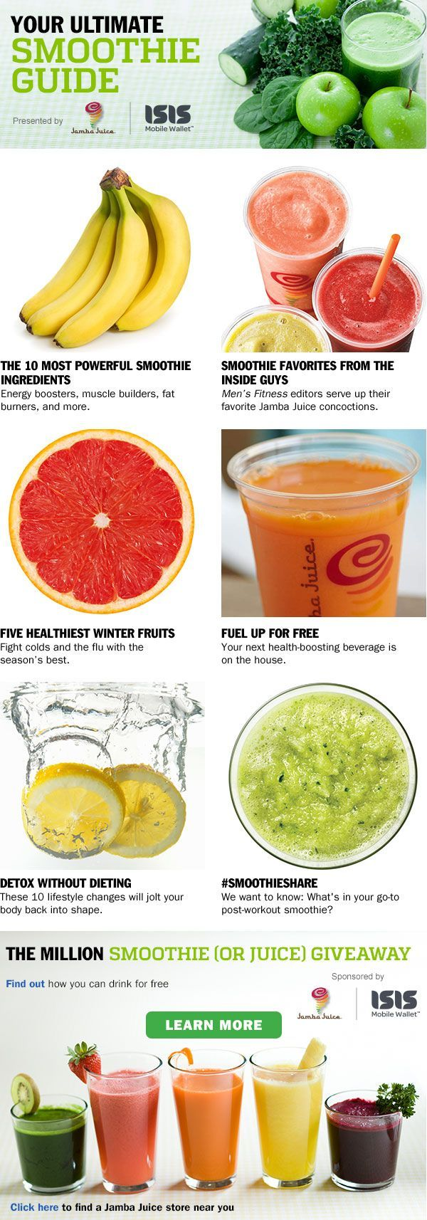 Your Ultimate Smoothie Guide - Men's Fitness http://healthnfitness24.com/