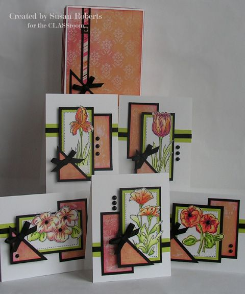 card gift set by Susan Roberts.... dp from two 6x6.... OSW 6x6's includes gift box.... CUTTING GUIDES in her blog post