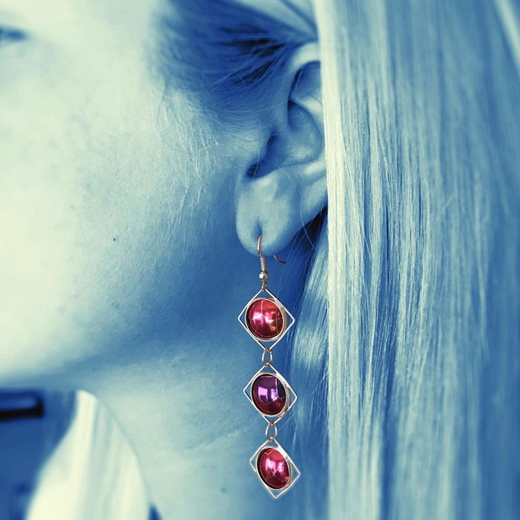 """Beautiful pink long earrings  """"It was Love at first sight ❤♥️""""  @vividsister on Instagram"""