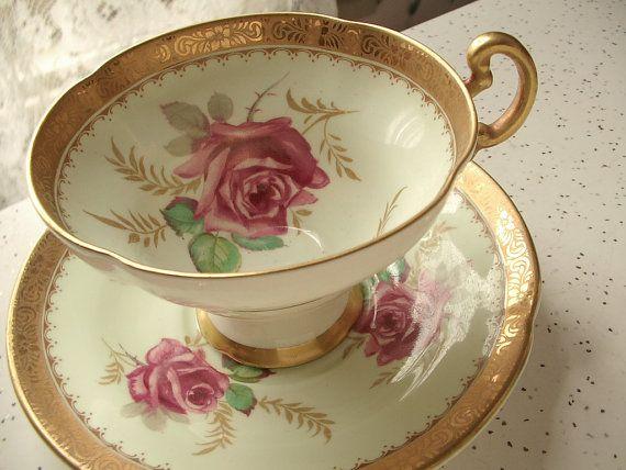 Antique English tea cup and saucer set,